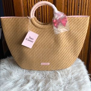 NWT Juicy Couture Straw Beach Bag Tote